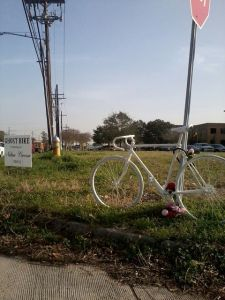 Nathan's Ghost Bike (Photo courtesy of Susie Skaggs)
